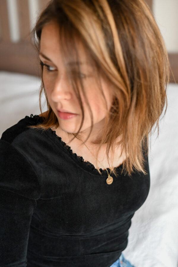 maglietta donna velluto